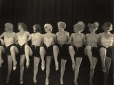 b/w photo of a chorus girl line