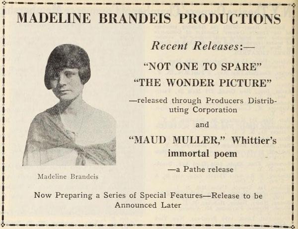 Madeline Brandeis Films - Collection - Harvard Film Archive